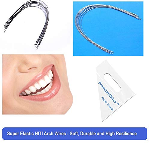 Super Elastic niti Orthodontic Arch Wires Round Ovoid Form 50Pcs (020 Upper)