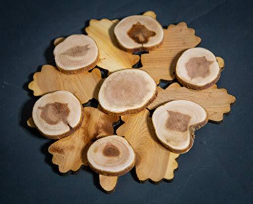 Teapot Trivets Set Handmade Carved Wood Ukrainian Juniper Wooden hot pad for a teapot + Cups by Tea Hot 2 (Image #5)