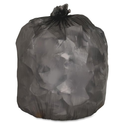 Genuine Joe GJO70417 Low-Density Trash Can Liner, 10 gallon Capacity, 23'' Length x 24'' Width x 0.35 mil Thickness, Black (Case of 1000) by Genuine Joe
