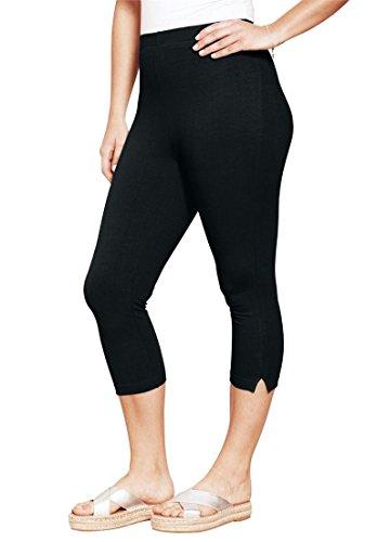 Roamans Women's Plus Size Stretch Capri Leggings by Roamans