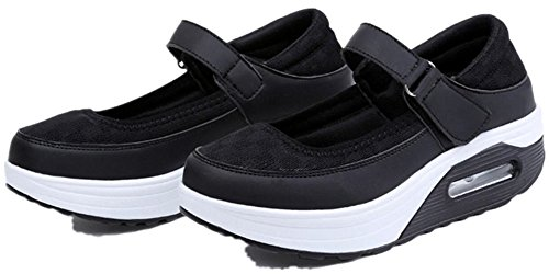 Moda Para Mujer Adulta Ups Walking Zapatos Casual Fashion Sneakers Black