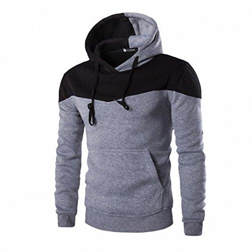Hombre Plus Size Costumes (New Fashion Winter Hoodies Men Sudaderas Hombre Hip Hop Mens Hoodie Decorative Pocket Patchwork Sweatshirt#6128)