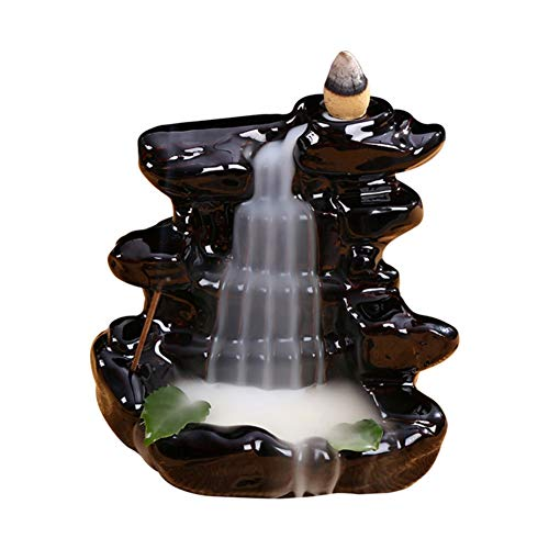 9 Dragons Incense Burner - BERTERI Retro Incense Cone Ceramic Smoke Backflow Incense Burner Traditional Chinese Design Incense Stick Holder Burner