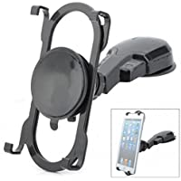 Rotating Car Mount Dashboard Phone Tablet Holder Stand Dash Glass Swivel Cradle Dock Suction Black for LG V30