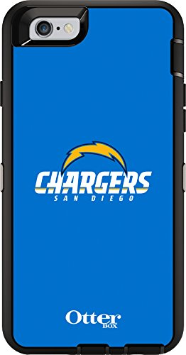 (OtterBox Defender Case for Apple iPhone 6 - Retail Packaging - NFL Chargers (Black San Diego Chargers NFL Logo))