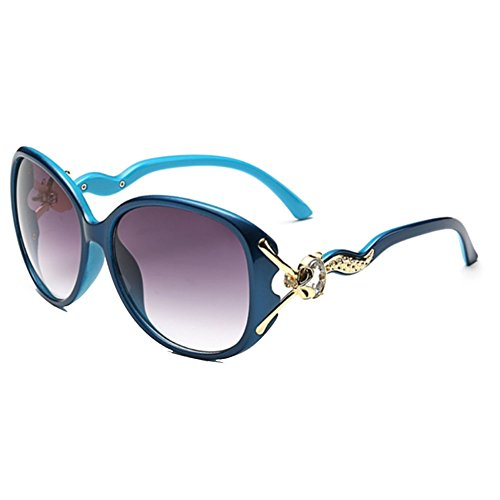 Sinkfish SG80043 Sunglasses for Women,Anti-UV & Elegant Oval Sunshades - UV400 (Purple) ()