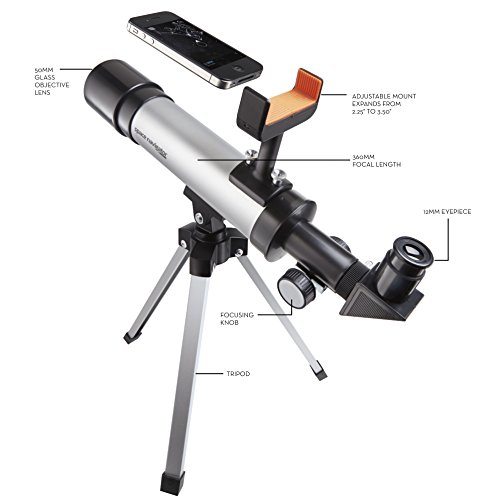 021276050209 - Space Navigator App-Enhanced Star Finding Spotting Scope - Powered by SkyView, Silver/Black carousel main 4