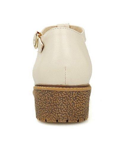 GGX Damen Soft Material Material Material rund geschlossen Zehen Kitten Heels Schnalle massiv pumps-schuhe 68517a