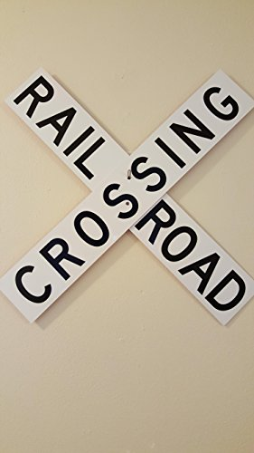Sign Aluminum Crossing (Rail Road Crossing Crossbuck Train Railroad Aluminum Sign)