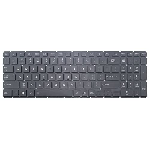 New for Toshiba Satellite L50W-C L55W-C Keyboard US Black Backlit