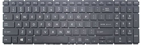Goparts-Online Laptop Replacement keyboard with backlit for Toshiba Satellite Radius P55W-B5224 P55W-B5112 P55W-B5318 , US layout glossy black color