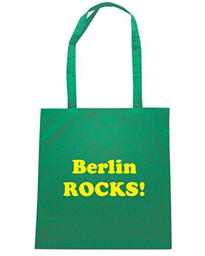 T-Shirtshock - Bolsa para la compra OLDENG00827 berlin rocks Verde