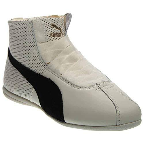 (PUMA Women's Eskiva Mid Cross-Trainer Shoe, Whisper White/Black, 10 M US)