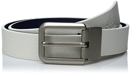 adidas Golf Reversible Printed Belt, White/St Dark Slate, One Size (Taylormade Belt Golf)