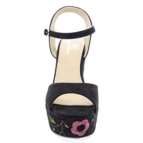 Femme Brides Noir Chaussures À Toocool SqzZtxfwx