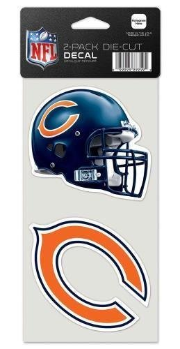 (Chicago Bears Set of 2 Die Cut Decals)