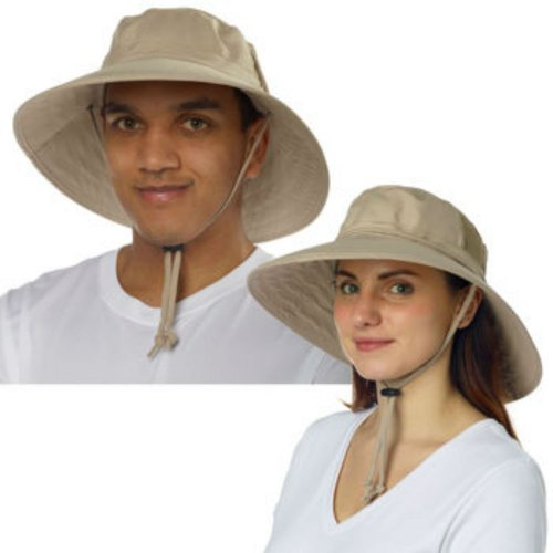 Sun Protection Zone Unisex Booney Hat, Lightweight, Adjustable, 100 Spf, Color: Khaki