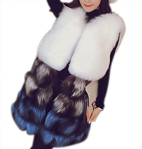 ファブリックリーズ記念品ベスト ファーコート レディース 秋冬 毛皮ベストコート フォックスフェイクファー 上着 暖かい 防寒 お洒落 レディース 中綿コート ファーベスト  20代 30代 40代 50代