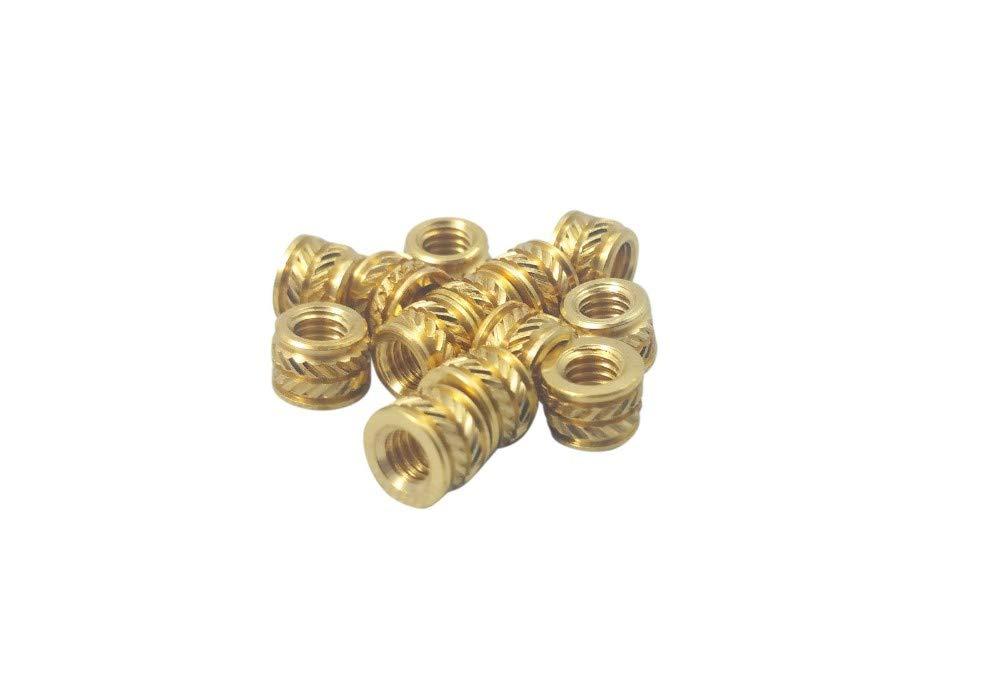 Qty 20 M3 3mm M3-0.5 Brass Threaded Metal Heat Set Screw Inserts for 3D Printing