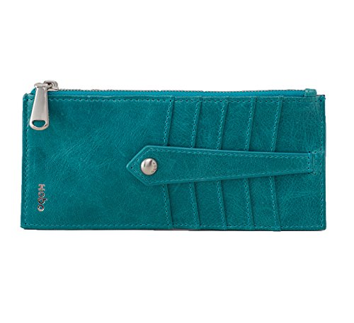 Hobo Women's Linn Genuine Leather Vintage Card Holder Wallet (Teal Green)