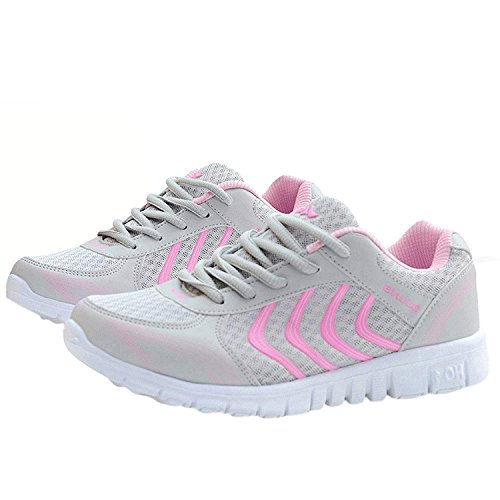 Sport Women's Casual FUDYNMALC Running Walking Athletic Shoes Sneakers Pink YXxdaHq