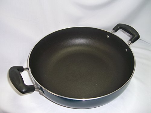 Vinod Non Stick Kadai with SS lid and 3 Layer Coating (26 cm -
