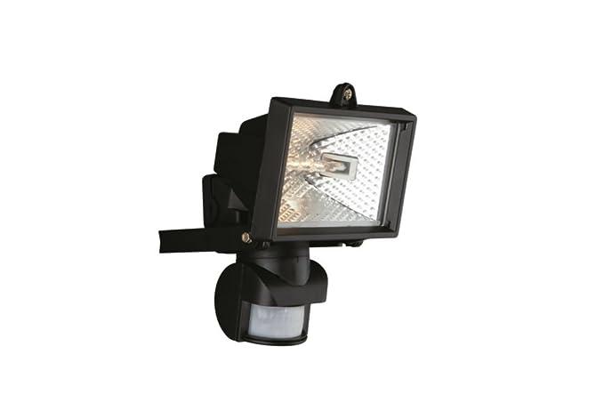Massive Faro - Foco proyector con sensor de movimiento, 1 x 150 W, acero