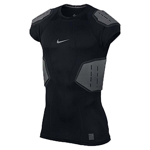 Men's Nike Pro Hyperstrong Football Top Black/Anthracite/Dark Grey/Flint Grey Size Medium ()