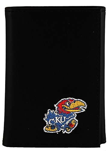 Kansas Jayhawks Men's Black Tri-fold Wallet by Sports Team Accessories