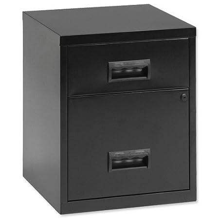 Pierre Henry - Archivador con cerradura (2 cajones, tamaño A4, 400 x 400 x 660 mm), color gris: Amazon.es: Oficina y papelería