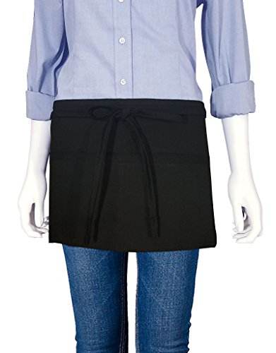 Reversible Waist Apron (10oz Apparel Reversible Waist Apron with Three Pockets made with Poly Cotton Twill)