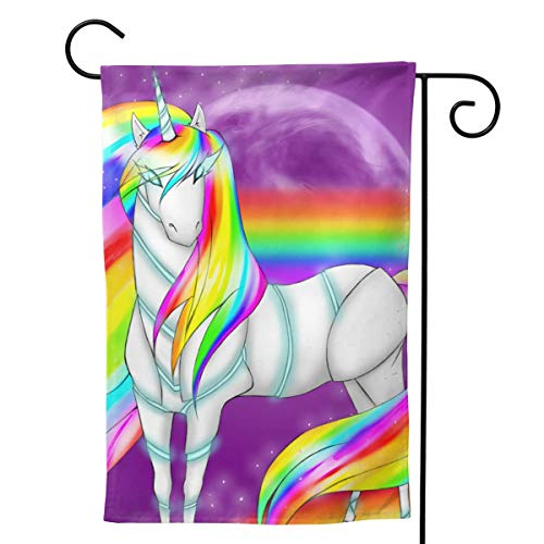 MINIOZE Unicorn Iridescent Rainbow Gay Pride LGBT Themed Welcome Extra Big Large Jumbo for Party Outdoor Outside Decorations Ornament Picks Garden Yard Decor Double Sided 28