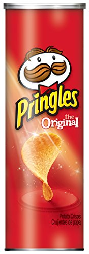Pringles Potato Crisps Chips, Original Flavored, 5.2 oz Can - Pringles Original Potato Chips