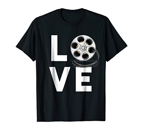 Lovers Movie Gifts - I Love Movies T-Shirt Gifts for Film Lovers, Students & Fans