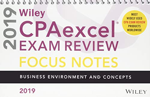 Pdf Test Preparation Wiley CPAexcel Exam Review 2019 Focus Notes: Business Environment and Concepts