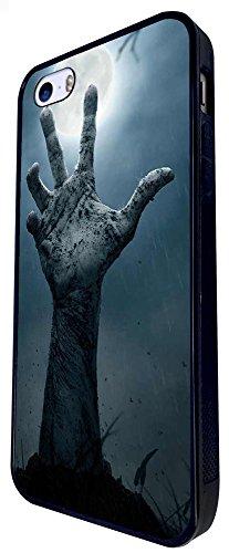 1487 - Cool Fun Trendy Zombies Dead Skeleton Hand Design iphone SE - 2016 Coque Fashion Trend Case Coque Protection Cover plastique et métal - Noir