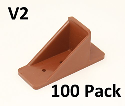 MINI Roof Guard Snow Guard Prevent Sliding Ice Snow Stop Buildup Plastic ACRYLIC Brown 100 pack by JSP Manufacturing