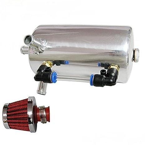 Universal aceite Catch Can tanque del respiradero Filtro de ventilación con 0,5 L: Amazon.es: Coche y moto
