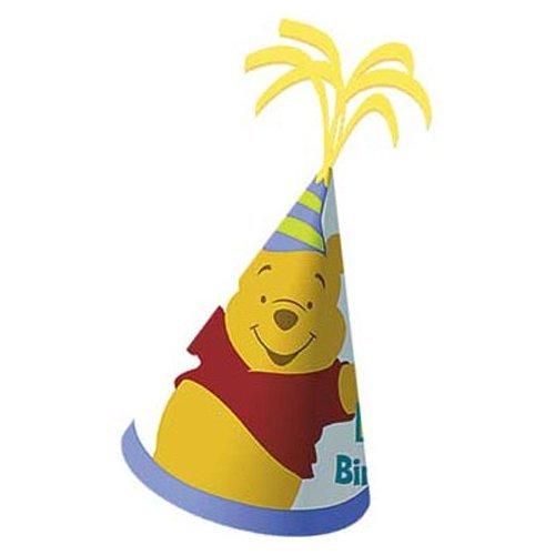 Pooh 1st Birthday Hat -1/Pkg.