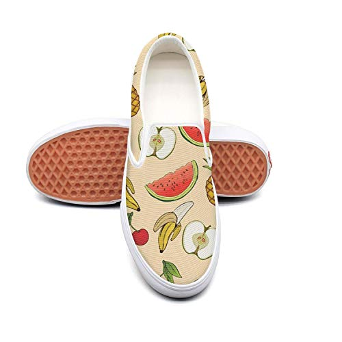 SKULLP Banana Apple Pineapple Cherry Watermelon Sneaker Shoes for Men new Breathable and Lightweight Walking (Polygon Island Light)
