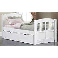 Twin Slat Bed in White