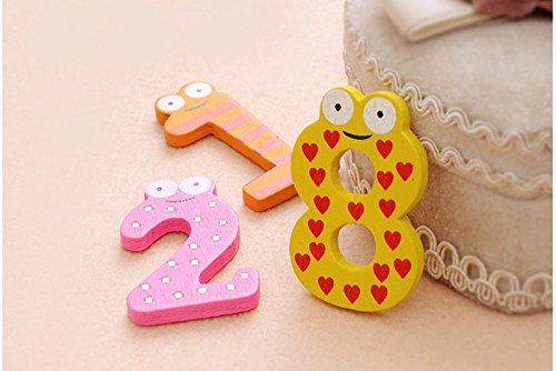 ️ Yu2d ❤️❤️ ️10pcs Fridge Magnets Early Learning Educational Toys Wooden Math