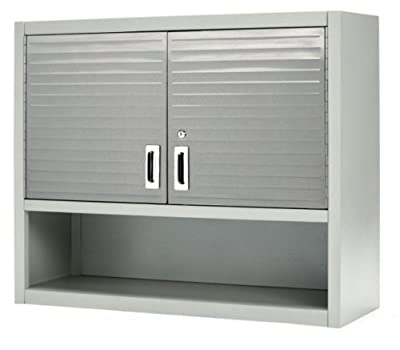 Wall Mounted Cabinet Locking 2 Door Office File Mount Garage Storage With Lock