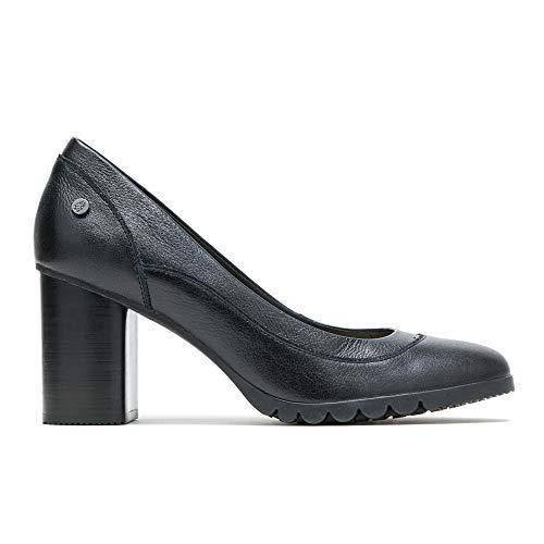 (Hush Puppies Spaniel Pump Women 10 Black Leather)