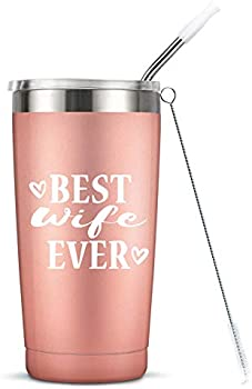 Masgalacc Best Wife Ever Vacuum-Insulated Stainless Steel Mug Tumbler