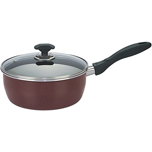 Chef's Classic Saucepan 23cm Classic Fryer with Glass Lid Multipurpose Use for Home Kitchen or Restaurant Chef's Choice by Kitchen King