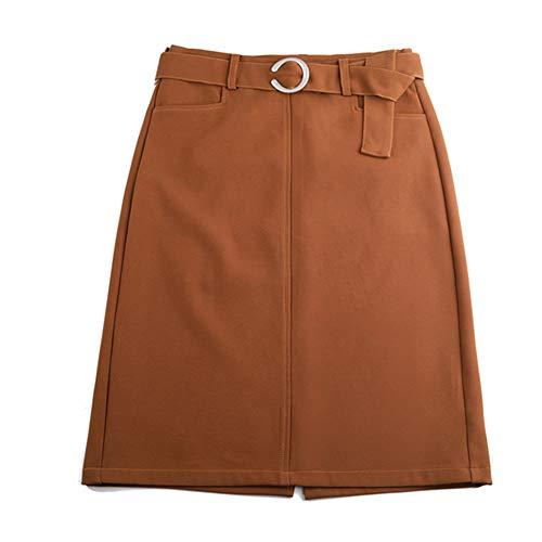 Marron Crayon Bodycon Grande Taille Haute Jupe Taille Girl Midi FS1890 Club E w7q4PtHq