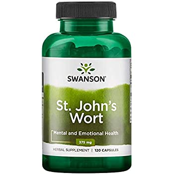 Swanson St. Johns Wort Mood Regulation Stress Response Relaxation Emotional Wellbeing Support Supplement 375 mg 120 Capsules
