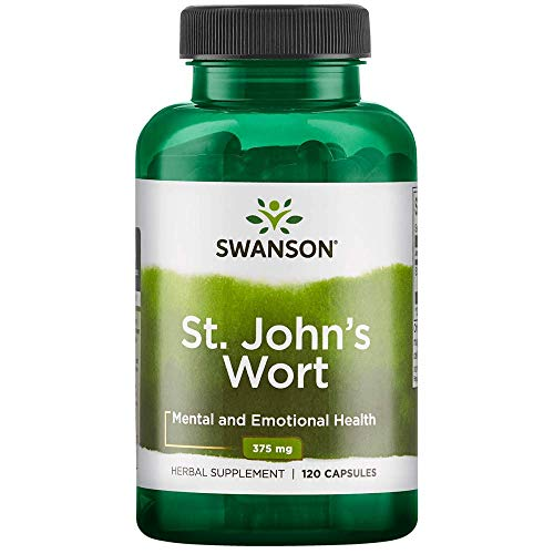 Swanson St. John's Wort Mood Regulation Stress Response Relaxation Emotional Wellbeing Support Supplement 375 mg 120 Capsules (Best Crisis Management Examples)