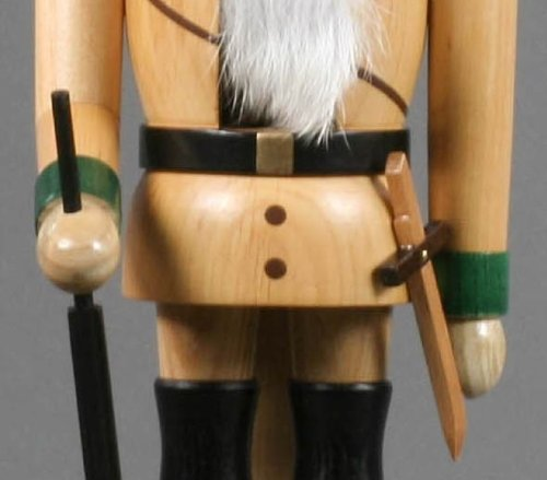 German Christmas Nutcracker Forest Ranger natural - 38cm / 15 inch - Volker Füchtner